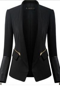 '.Женский пиджак с декоративными молниями .'