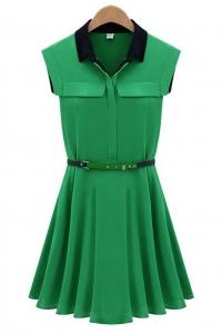 Платье (с поясом)