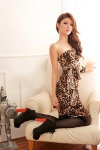 '.Платье с леопардовым принтом .'