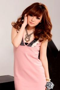 '.Изящное розовое платье .'