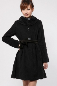 Пальто черное (без пояса)