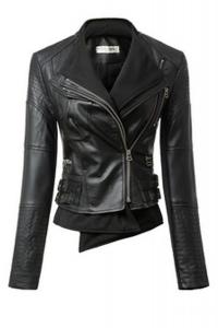 '.Черная кожаная куртка .'