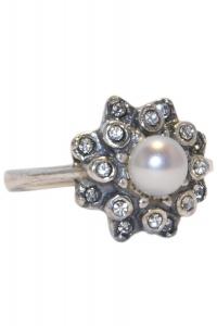'.Кольцо Хризантема серебро .'