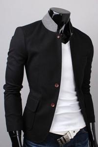 '.Пиджак с накладными карманами .'