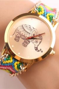 '.Яркие часы со слоном .'