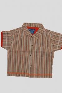 '.Рубашка для мальчика в полоску (возраст 6-9 мес) .'