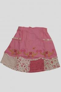 '.Юбка розовая с цветочным вышивным рисунком (2 года) .'