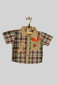'.Костюм для мальчика с жирафами шорты с рубашкой (2 года) .'