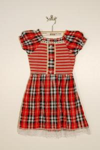 '.Платье для девочки в клетку (2-3 года) .'