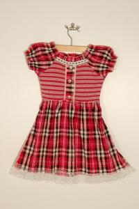 Платье для девочки в клетку (2-3 года)