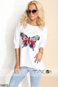 '.Лонгслив с бабочкой .'
