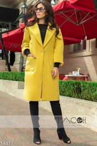 '.Пальто с крупными карманами .'