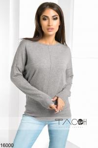 '.Пуловер с рельефным швом .'