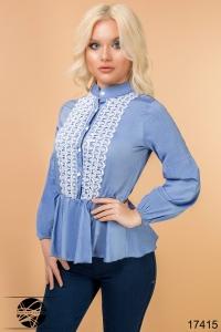 '.Блузка с гипюром .'