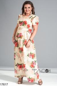 '.Длинное платье с цветочным принтом .'