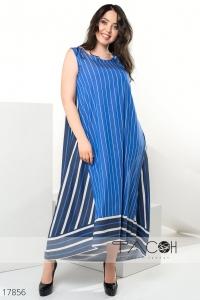 Свободное полосатое платье