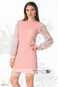 '.Розовое коктейльное платье .'