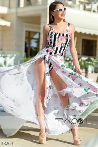 '.Пляжная юбка с цветочным принтом .'