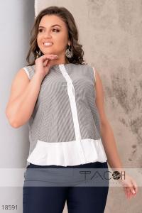 '.Летняя блузка в полоску .'