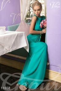 '.Легкое платье в пол с ажурными рукавами .'