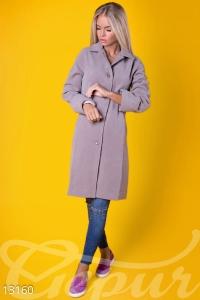 '.Классическое прямое пальто из нежного кашемира .'