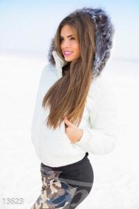 '.Зимняя белая куртка .'