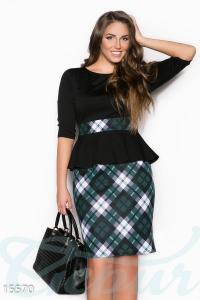 '.Элегантное классическое платье с баской .'
