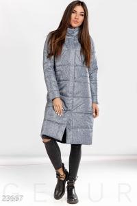 '.Теплое пальто меланж .'