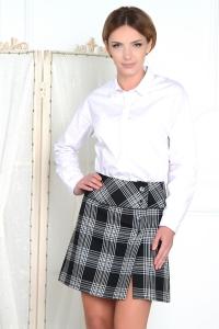 '.Кокетливая черно-белая юбка .'