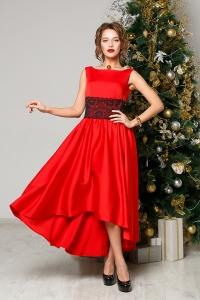 '.Каскадное легкое платье .'